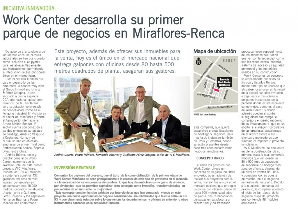 Recorte Prensa El Mercurio Work Center